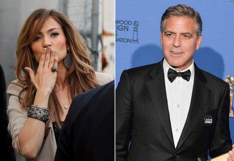 """George Clooney besa bien"", confiesa Jennifer Lopez"