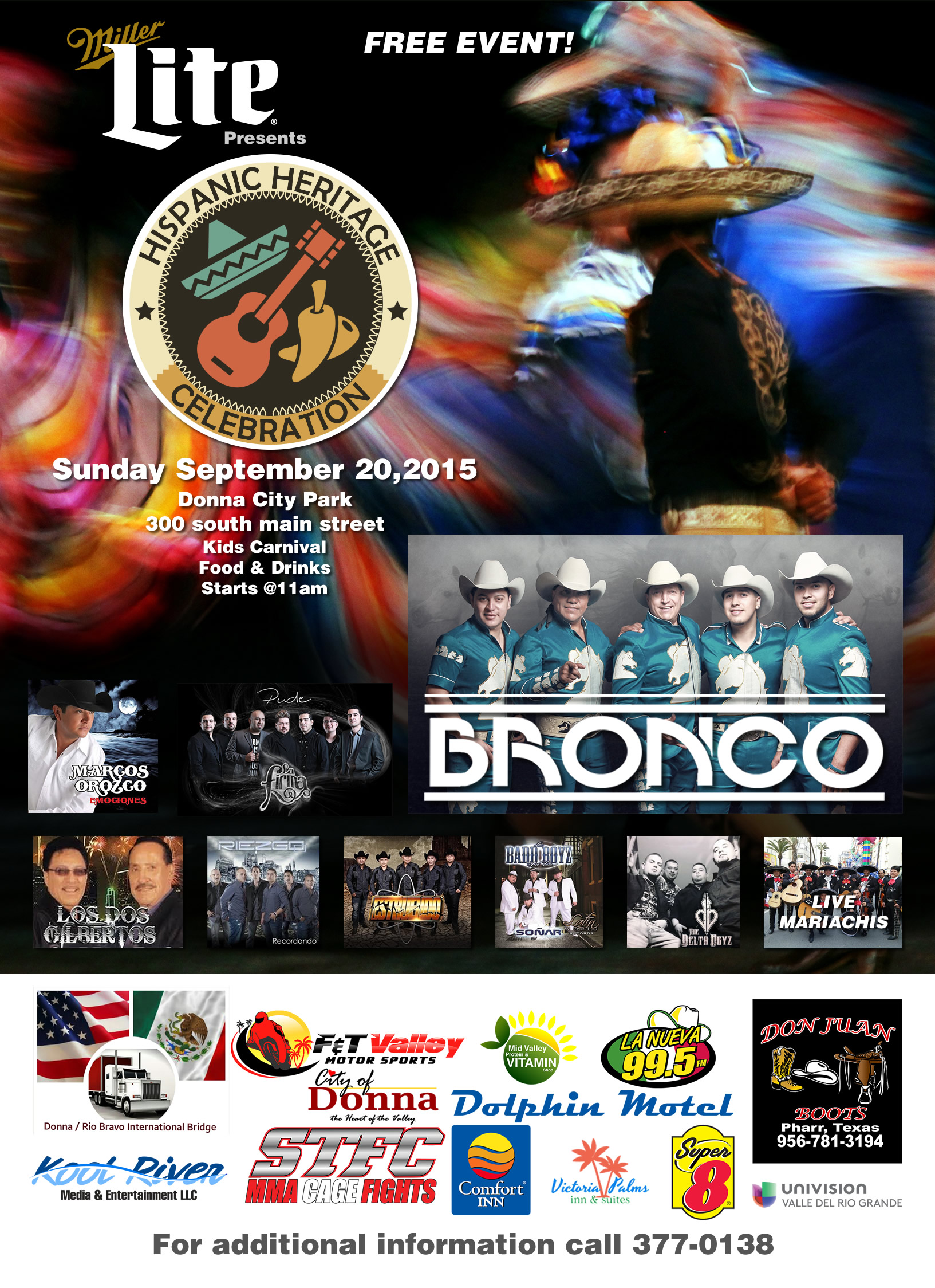 Hispanic Heritage Celebration Featuring BRONCO!