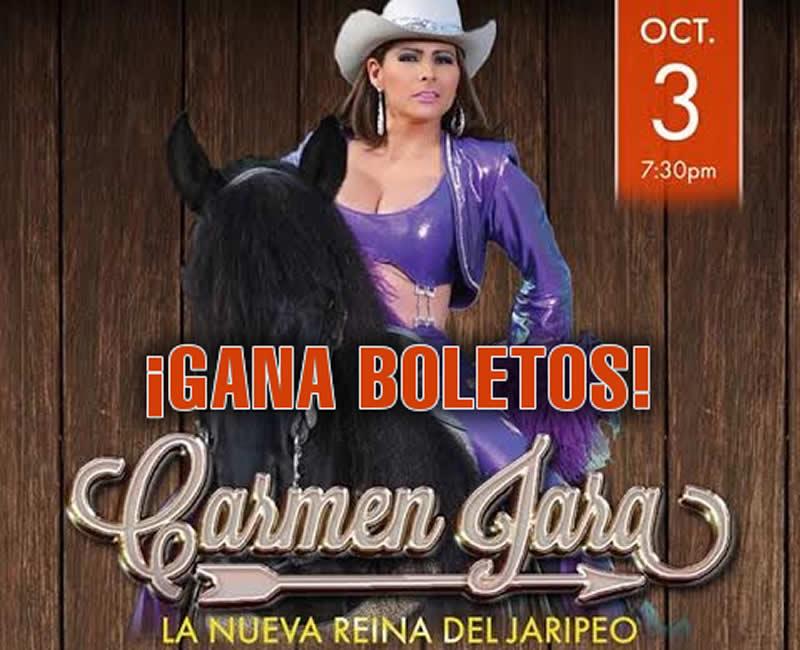 Gana boletos a Carmen Jara