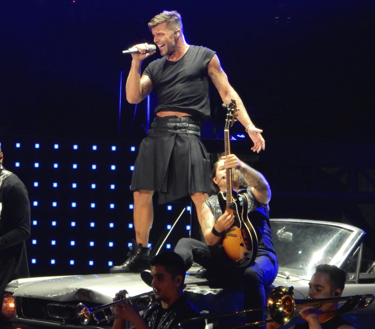 Photo © 2016 Splash News/The Grosby Group  February 12, 2016 in San Juan, Puerto Rico.  Ricky Martin performing in his first concert at the Puerto Rico Coliseum in San Juan.